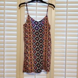 Vibrant, geometric print dress